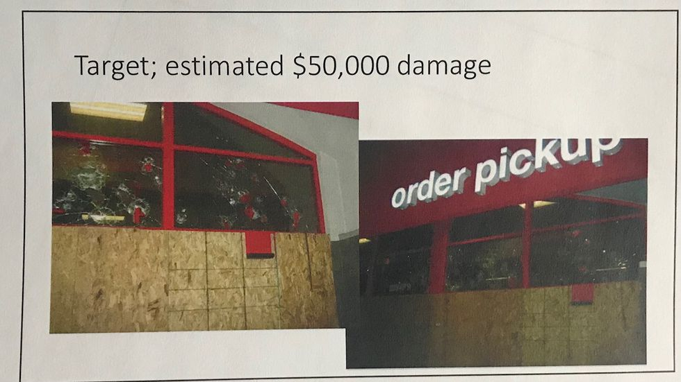 Several people were arrested after causing about $50,000 in damage to the Target on North 48th...