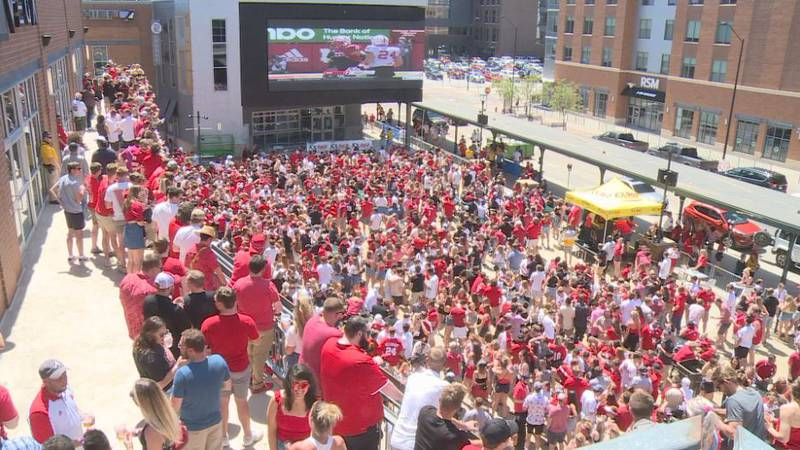 Fans traveled from all over just to be in Lincoln for the big game.
