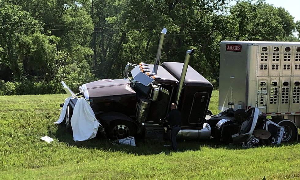 Authorities reported that a semi-truck crash Thursday morning, June 10, 2021, near Scribner,...