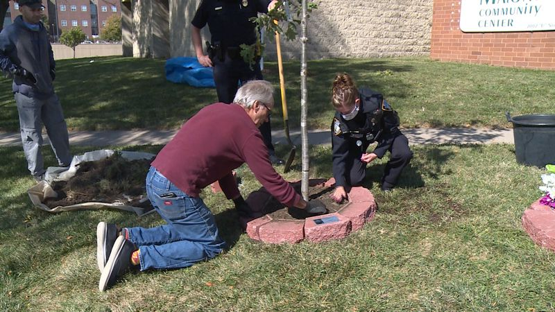 LPD, Malone Center partner to plant trees in the community.