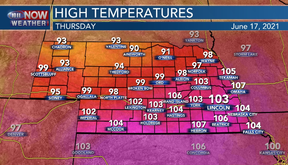 Dangerous heat continues on Thursday with very hot temperatures expected in southern and...