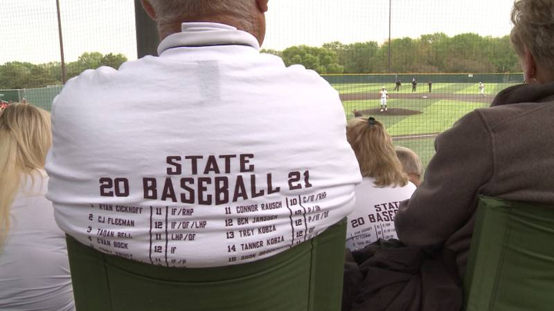 Columbus fans watch on as the Discoverers compete in the first round of the state tournament.