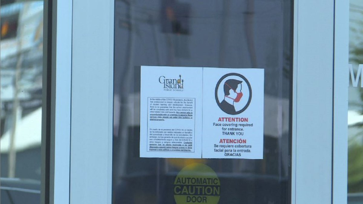Grand Island Public Schools announced Monday they would temporarily require students, staff and...