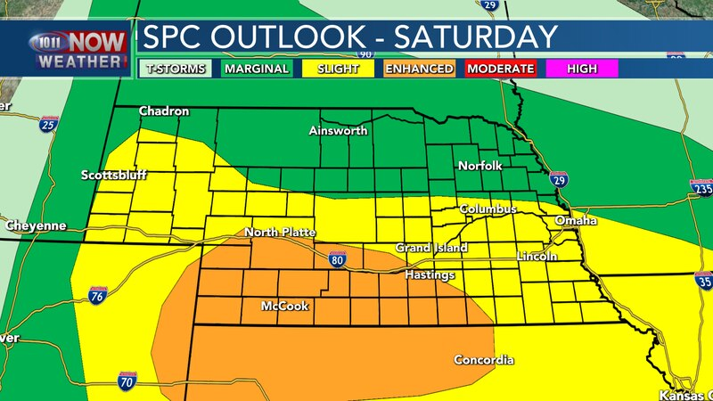 Severe storms are expected to impact much of the state into Saturday evening and overnight into...