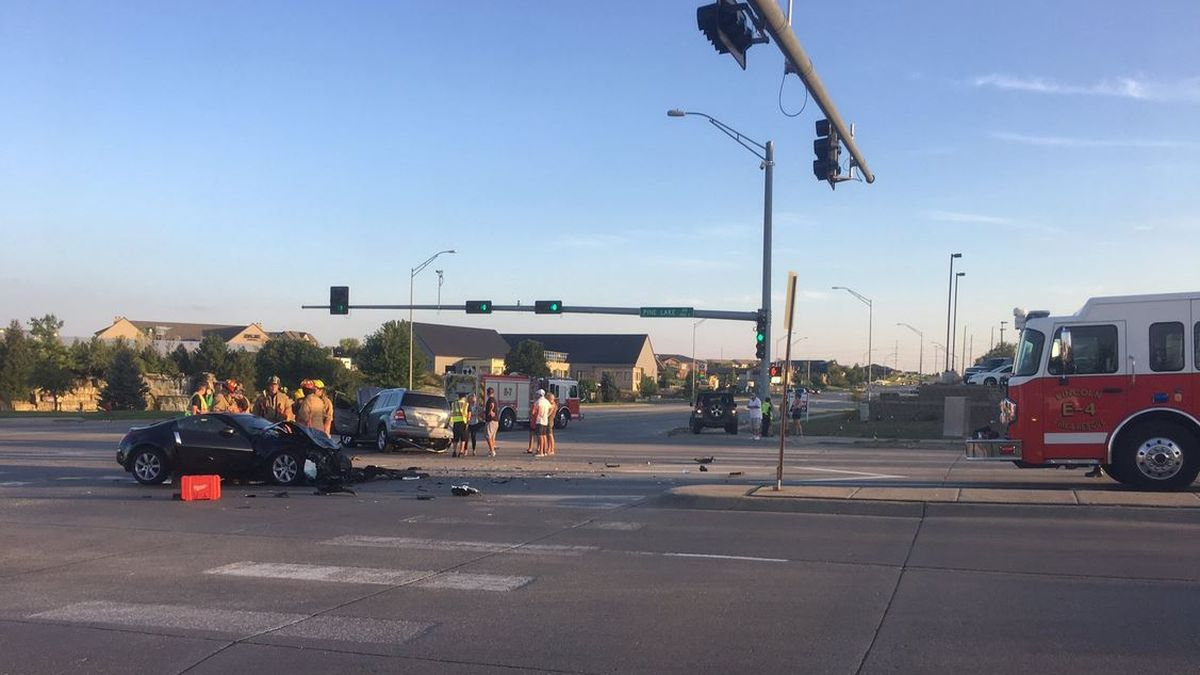 Dog wanders onto I-35E, causes crash near Forest Lake, Minn.