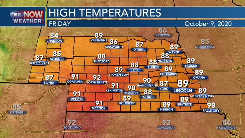 Record to near record temperatures are possible on Friday.