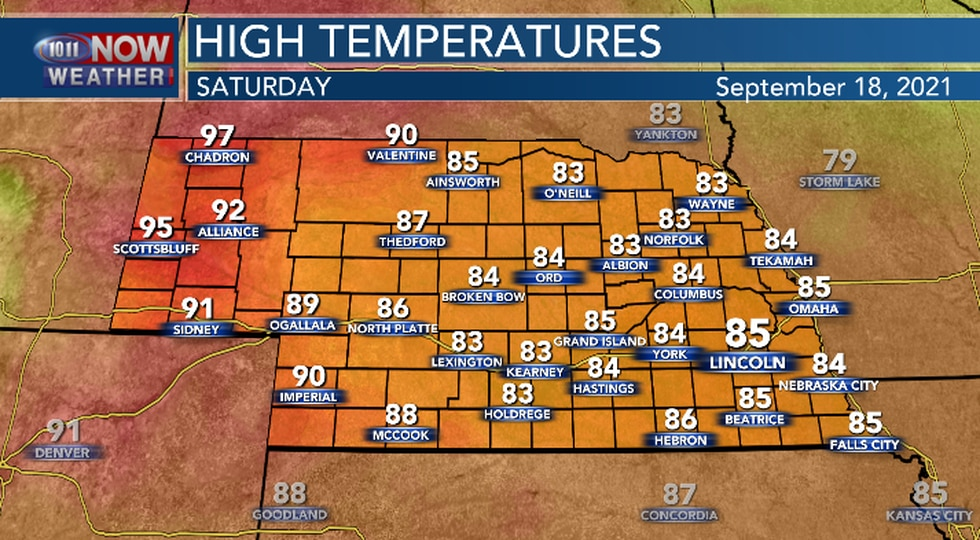 It will be warmer Saturday afternoon and more humid.