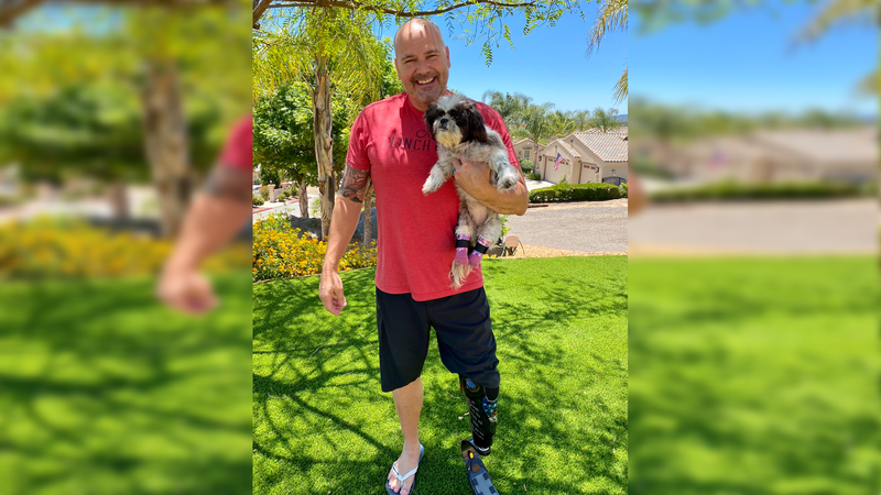 Detective Chappie Hunter with the San Diego Police Department has been fostering Chloe and has...
