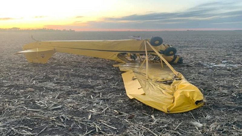 Unmanned plane eventually ends up in a corn field