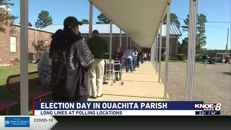 lengthy lines at west Monroe polling paces