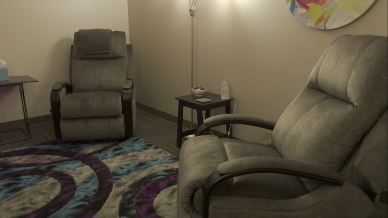 The Living Room, located at the Honu Home, has comfy chairs and soft light, a cozy and safe...