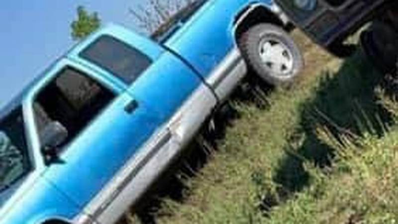 This pickup, stolen Monday night in St. Paul, was found on a road in rural Howard County...