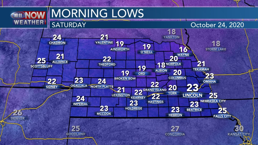 The first statewide hard freeze is anticipated Friday night into Saturday.