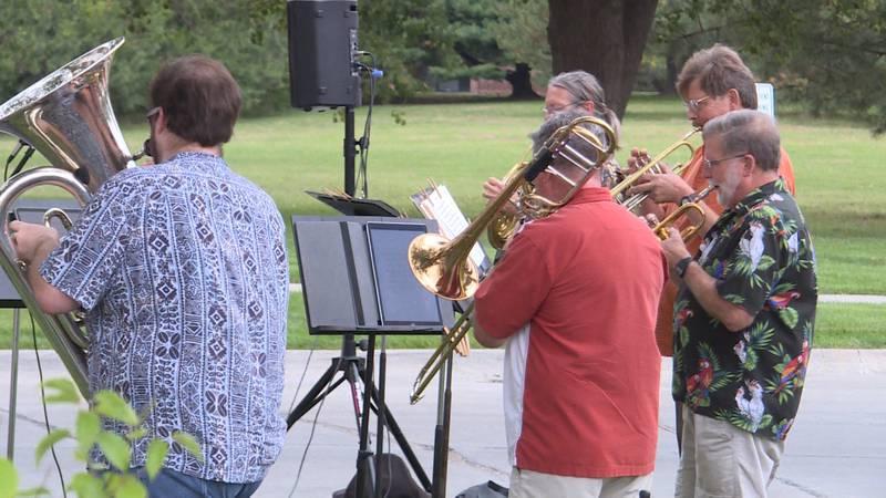 Nebraska Brass plays in socially distant concert at Gateway Vista