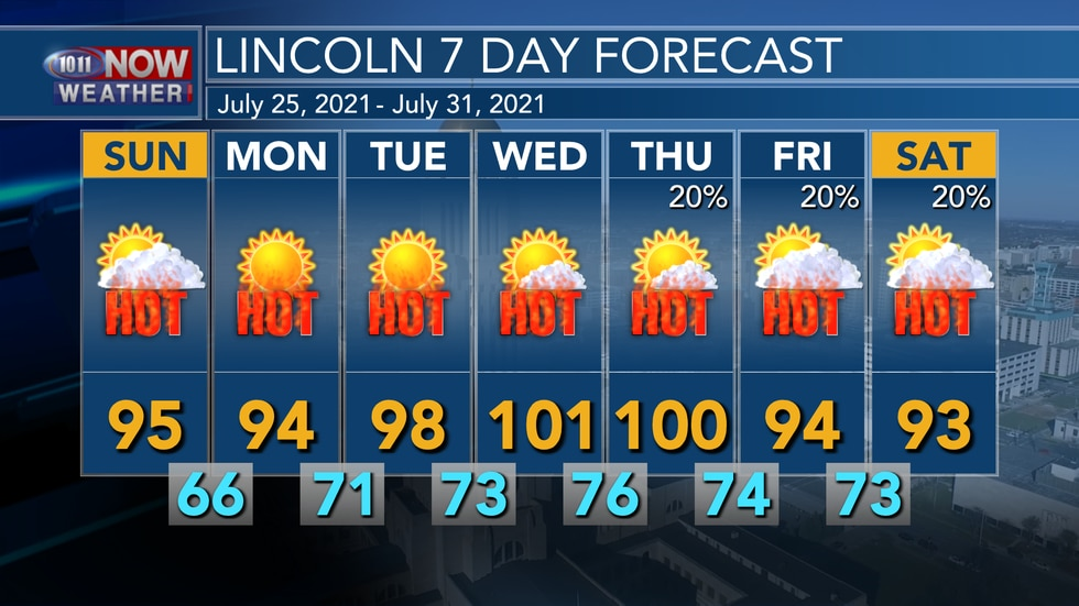 Very hot weather is expected to continue for Sunday and into most of next week with afternoon...