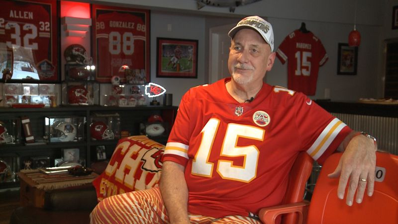 There are Chiefs Fans and then there's Dr. Tim Gardner. He's dedicated his entire basement to...