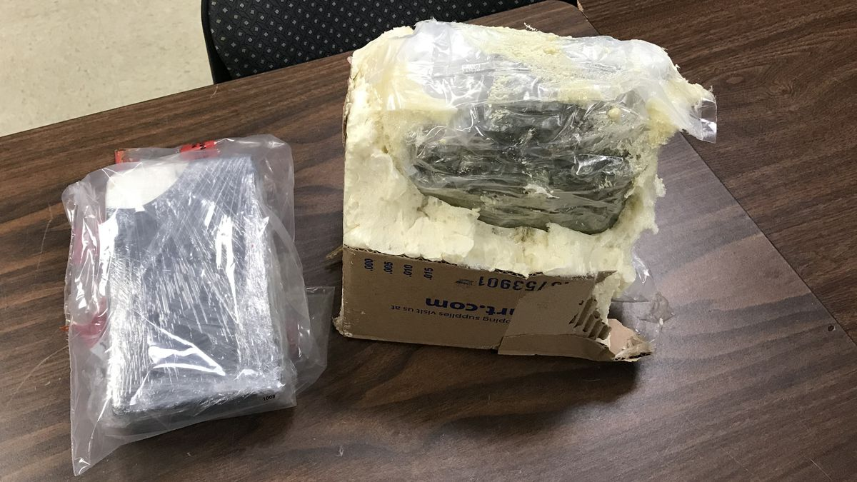 A California man didn't outsmart Nebraska State Patrol Troopers.  He is now in the Lincoln County Jail after troopers found marijuana concealed in a box filled with spray foam. Troopers also found cocaine hidden in a spare tire.  (SOURCE: Nebraska State Patrol)