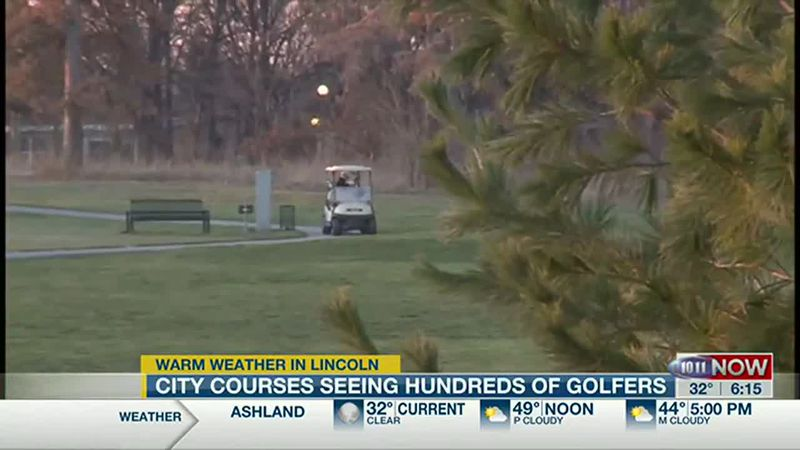 Warm December weather a boost to Lincoln golf courses