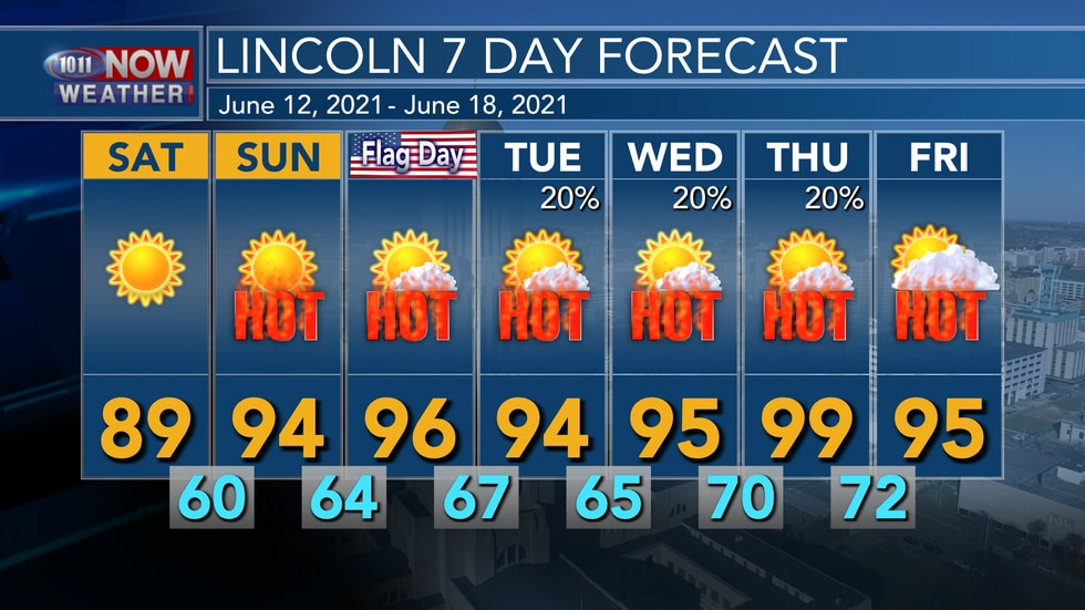 We'll see a brief break from the heat on Saturday, but temperatures quickly return to the mid...