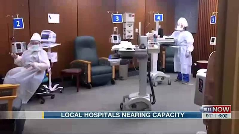 local hospitals nearing capacity