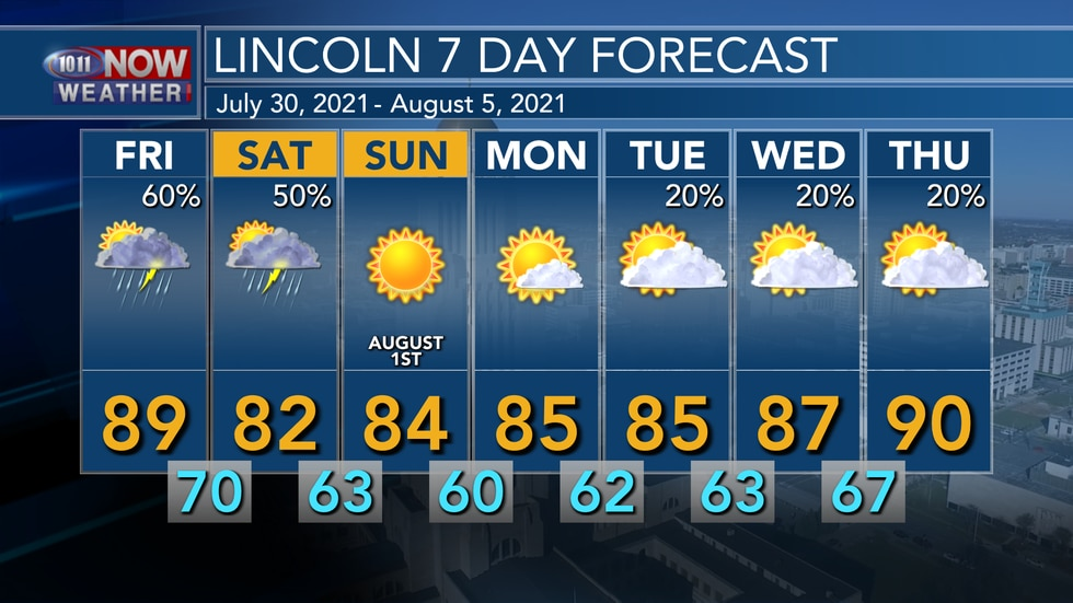 A pattern change will lead to some cooler weather over the course of the next week with highs...