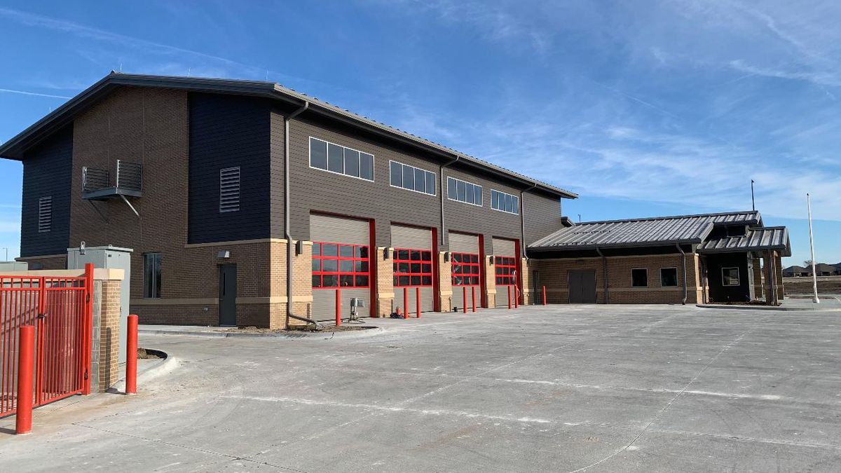 Lincoln Fire & Rescue's brand new Station 16, near 98th & O Streets.