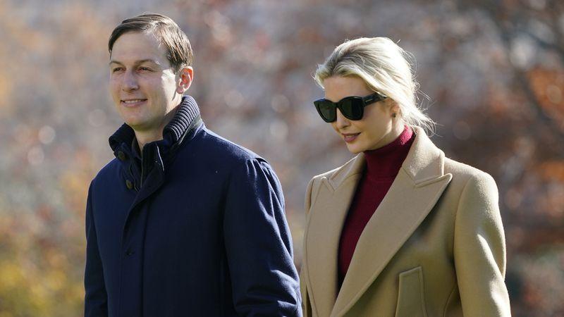 President Donald Trump's White House Senior Adviser Jared Kushner and Ivanka Trump, the...