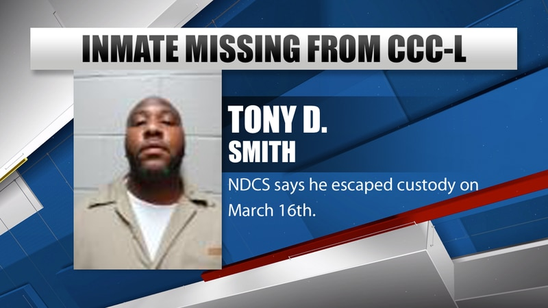 Tony D. Smith is listed as an inmate who's escaped as of March 16th.