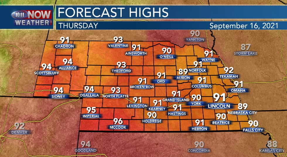 Hot and more humid Thursday.