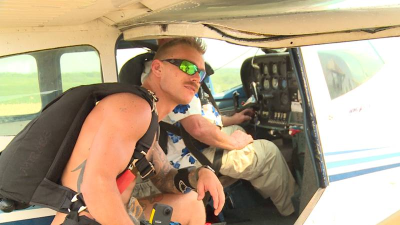 Nebraska man sets world record in naked skydiving for a cause