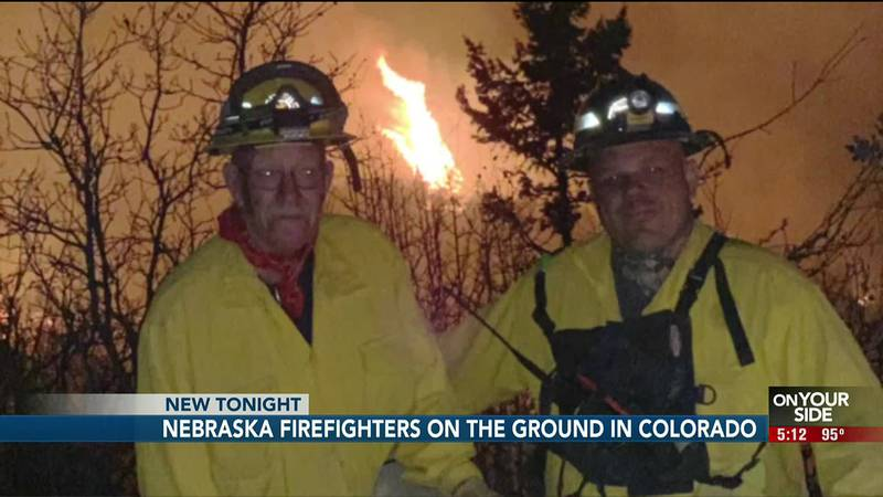 s flames light up the Colorado skies, on the ground a crew from Gering, Nebraska battles.