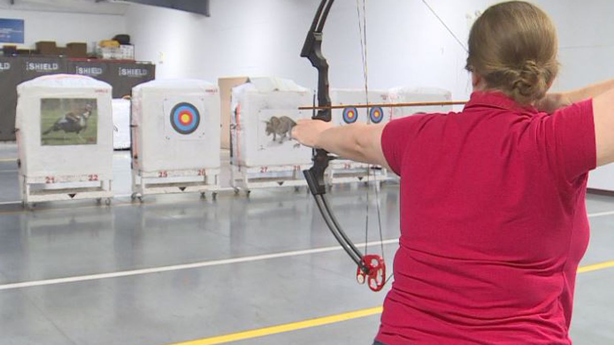 Instructors teach people trying archery for the first time or to those just wanting to sharpen up their skills. (SOURCE: KOLN)