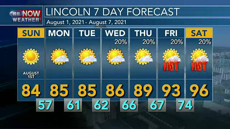 Mainly sunny and pleasant on Sunday with more areas of smoke.