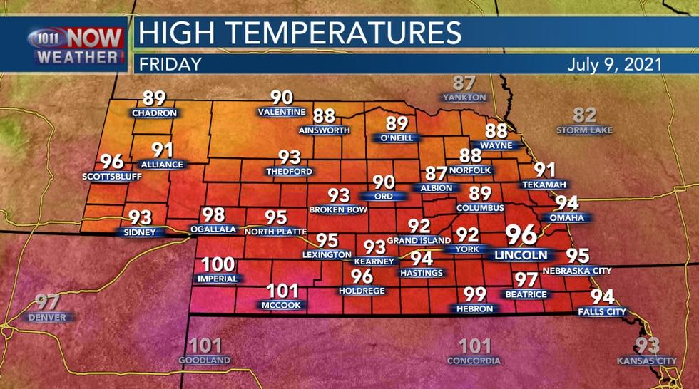 Friday High Temperatures