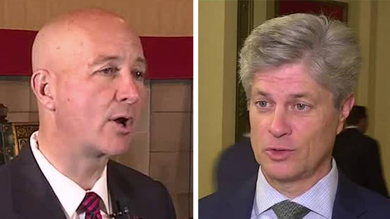 During his news conference Monday, Oct. 25, 2021, Gov. Pete Ricketts defended Rep. Jeff...