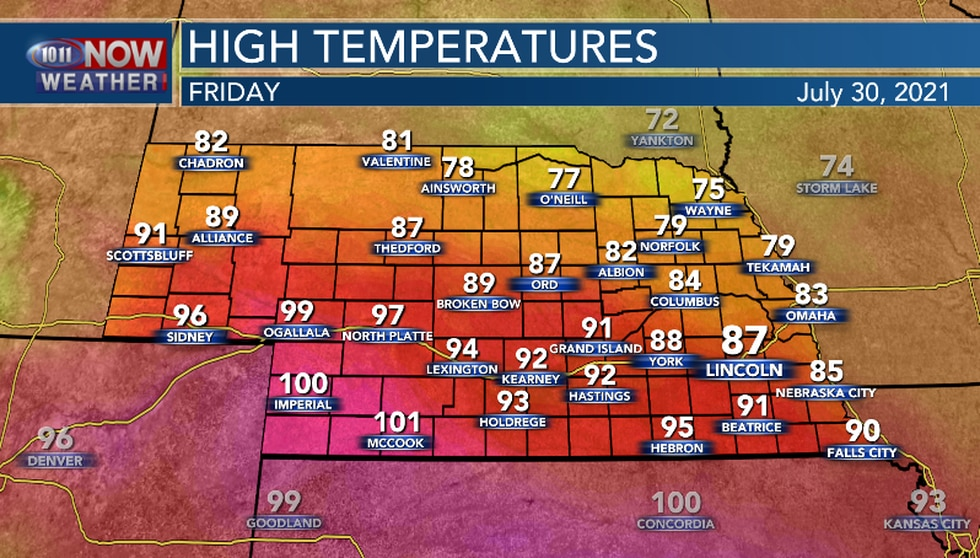 Friday should be much cooler for most of the area.