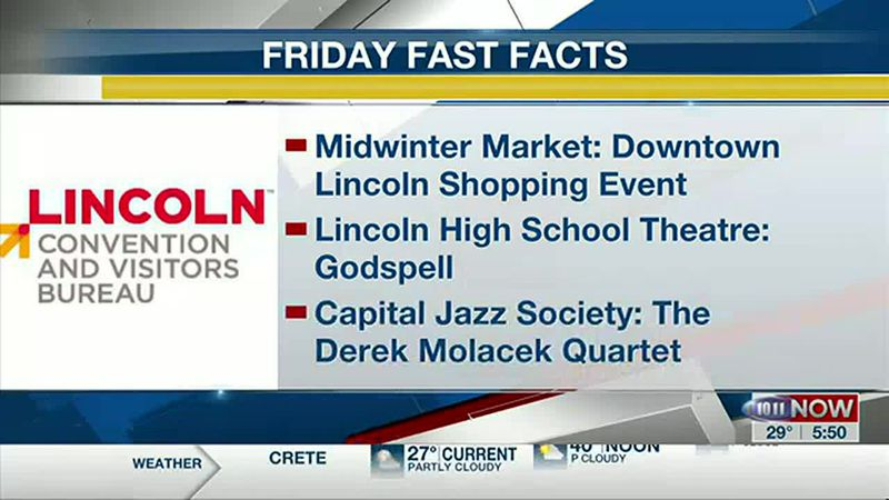 Several things to check out this weekend around Lincoln in this week's Friday Fast Facts.