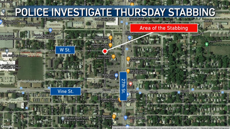 Lincoln Police are searching for the man who stabbed another man near 26th & W.