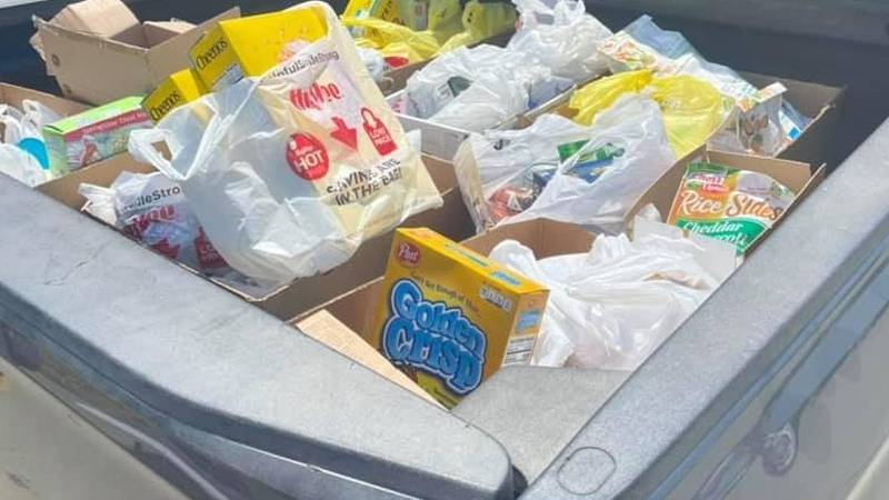 The generous people in Columbus brought in items by the truckloads.