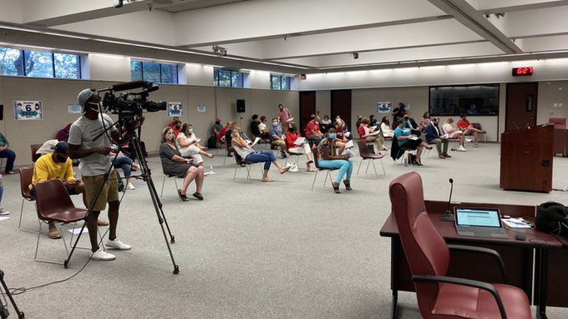 Omaha Public Schools is having its last board meeting before schools reopen amid the COVID-19 pandemic.