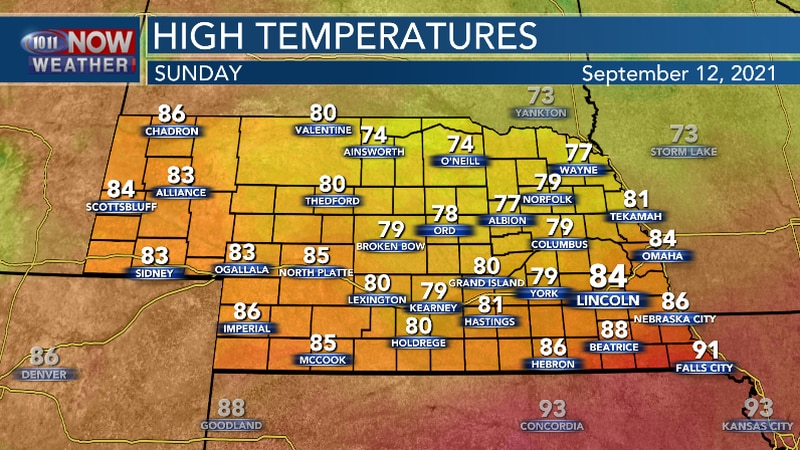 The second half of the weekend will be cooler for much of the area.