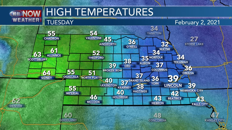 Slightly warmer weather is expected on Tuesday, though temperatures will remain in the 30s for...
