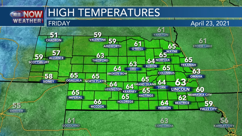 Temperatures get back to the lower and middle 60s for most of the state on Friday to finish the...
