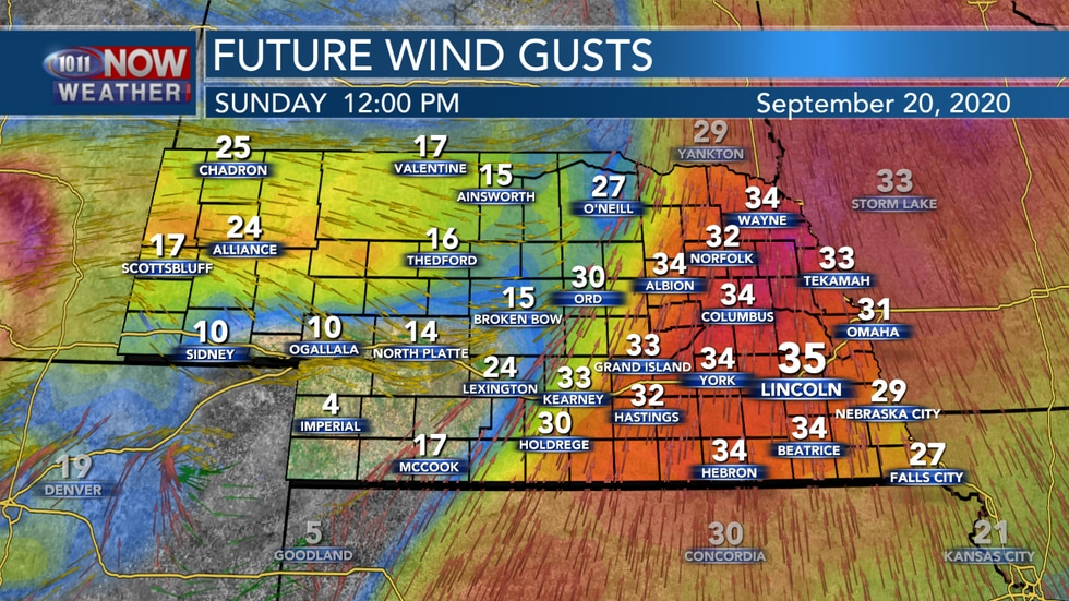 More breezy conditions are then expected on Sunday.