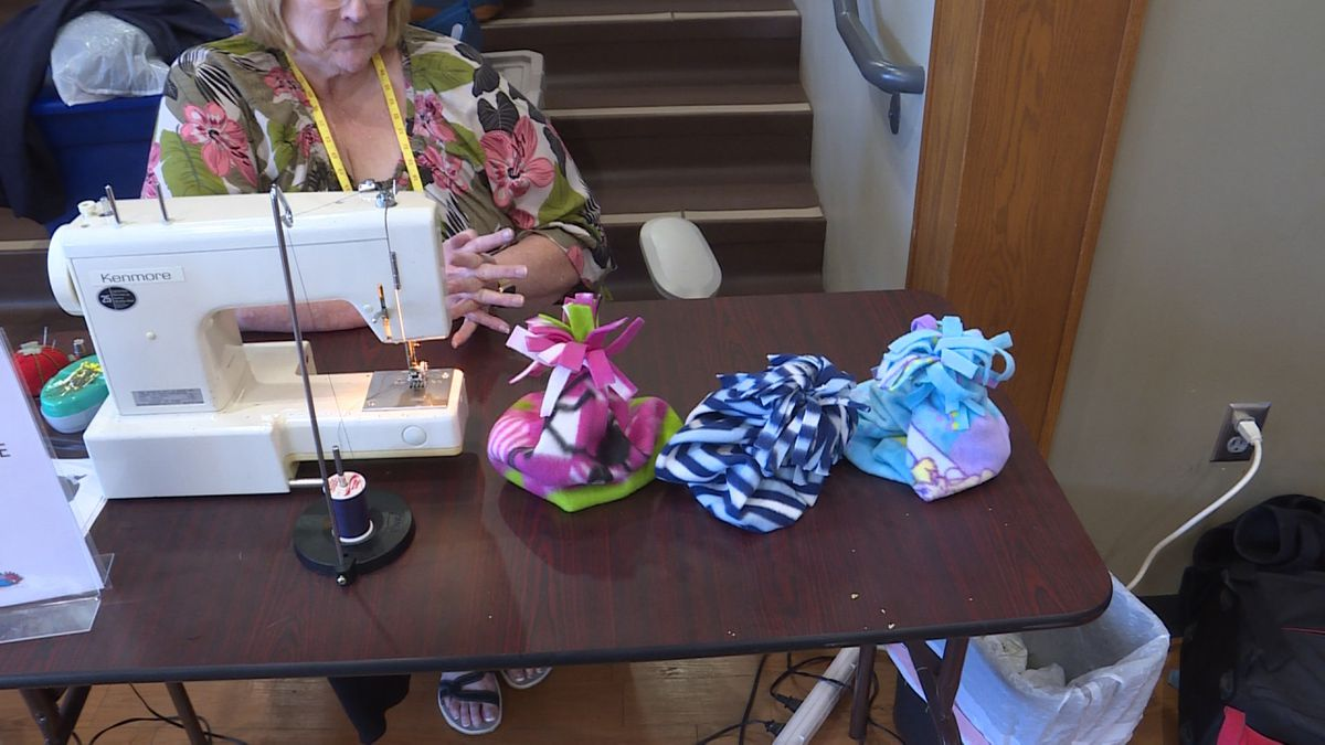 Carol Newsom spends every Thursday volunteering to sew clothes for people at Matt Talbot...