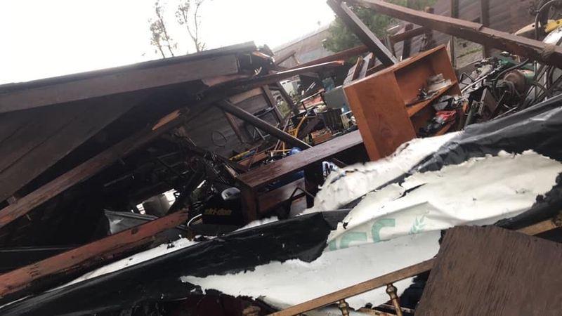 A local farmer says the storm damaged buildings on his farm in Southwest Nebraska.  Joseph...