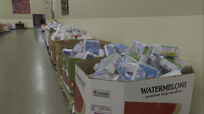 The Center for People in Need has always distributed diapers, but now they'll be able to...