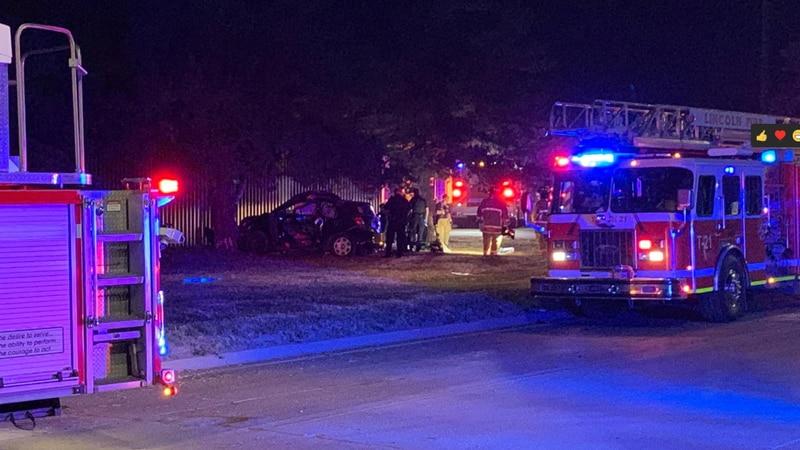 The scene of a fatal crash in far northeast Lincoln.