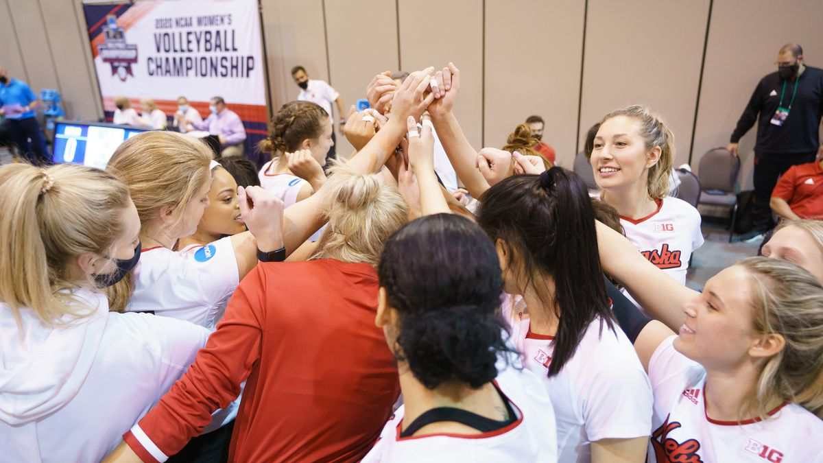 18 APR 2021: Baylor vs. Nebraska during the Division I Women's Volleyball Tournament held at...