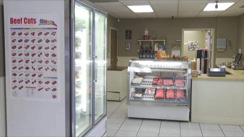 The owner of Del Gould Meats says so far they're not having issues keeping meat in stock,...